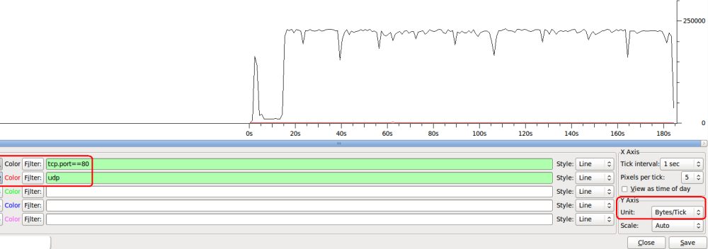 Measuring Bandwidth using Wireshark (3/3)