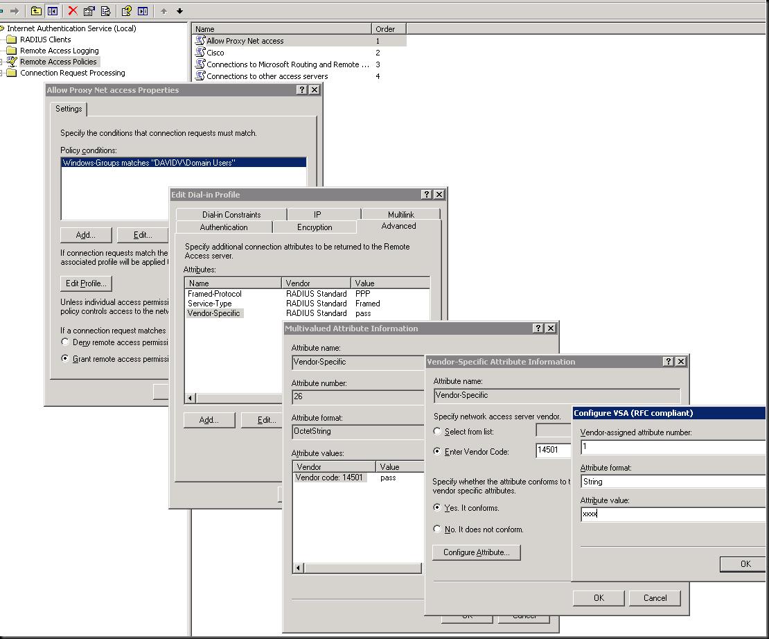 Adding vendor-specific RADIUS attributes (BlueCoat ProxySG