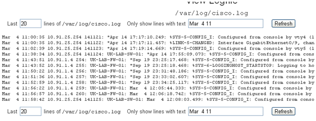 Easy cisco syslog monitoring using Webmin | David Vassallo's