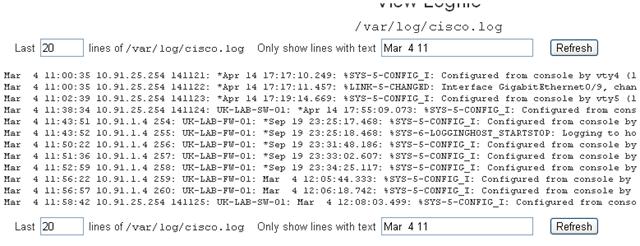 Easy cisco syslog monitoring using Webmin | David Vassallo's Blog