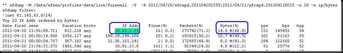 Cisco network traffic monitoring with NfSen/NfDump and NetFlow (4/6)
