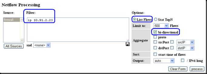 Cisco network traffic monitoring with NfSen/NfDump and NetFlow (5/6)