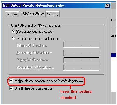 Windows L2TP split tunnelling using CMAK   David Vassallo's Blog