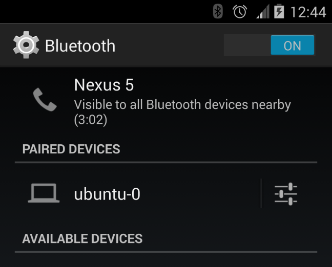 nexus bluetooth pairing