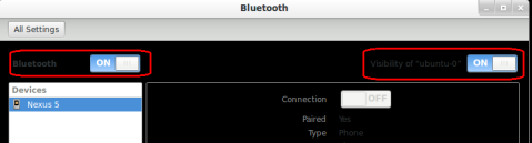 ubuntu bluetooth settings